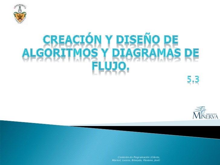 Comisión de Programación (Gilerto, Marisol, Lucero, Briseyda, Flaviano, José)