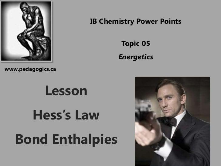 IB Chemistry Power Points                              Topic 05                             Energeticswww.pedagogics.ca   ...