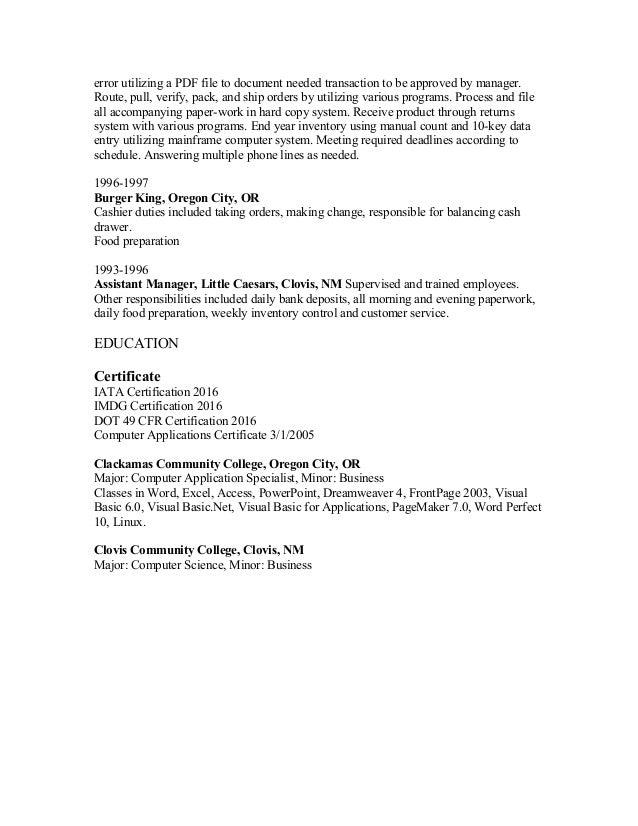 christine wickersham resume