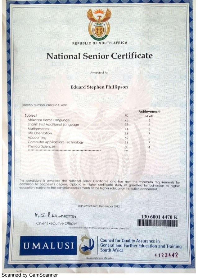 Image result for grade 12 certificate