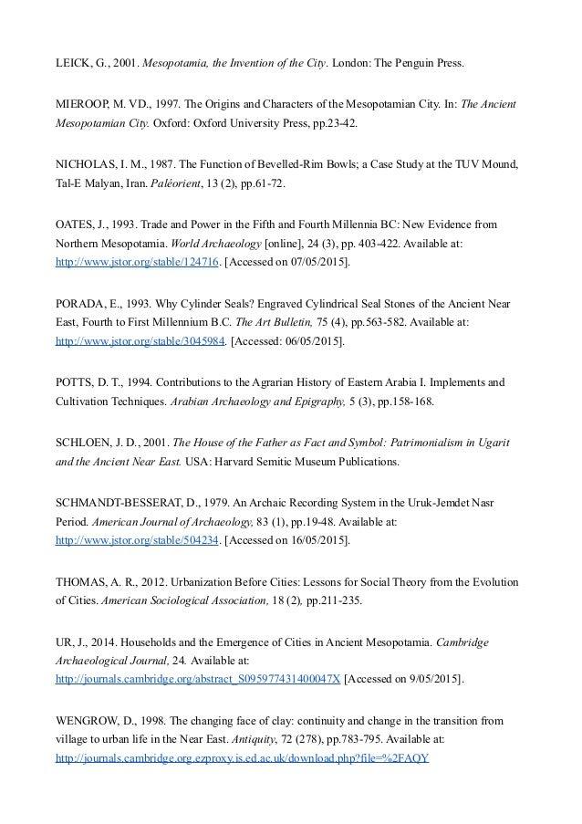 Key features of mesopotamian civilization essay