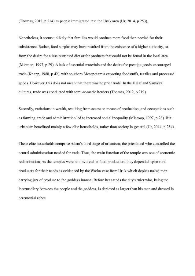 mesopotamian urbanisation essay