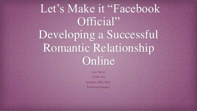 when to make it facebook official relationship