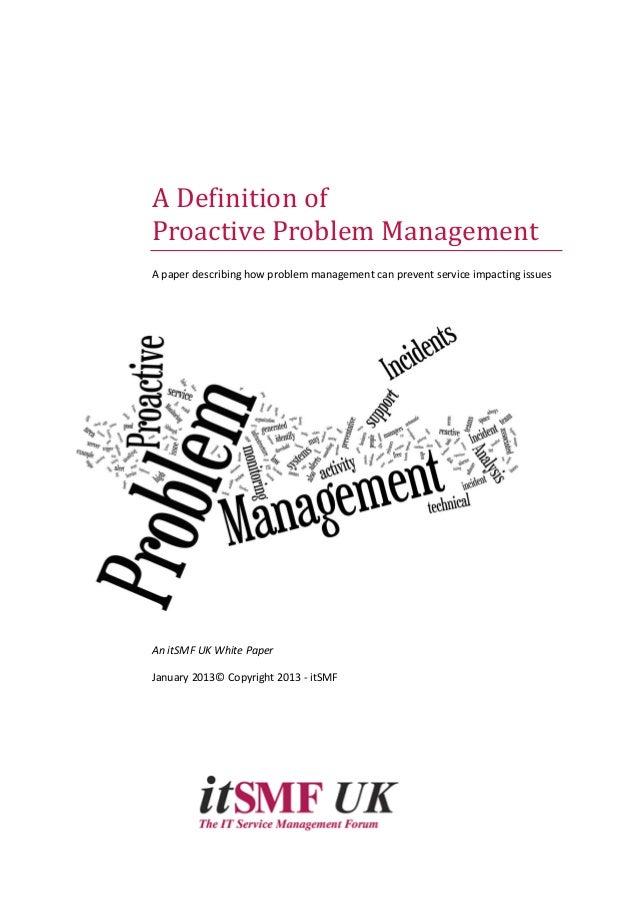 Problem Management: Proactive Problem Management
