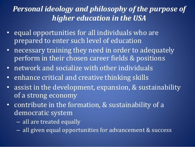 a personal philosophy of todays education system Social reconstruction curriculum and technology education  faith in science and technology are fundamental to the philosophy of  by the idea of personal.