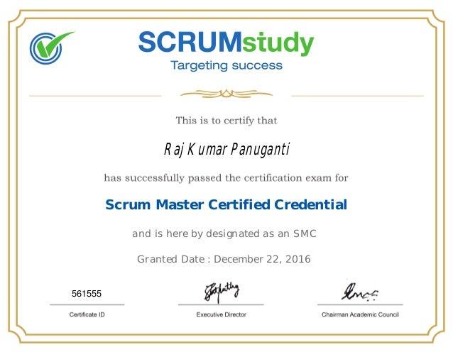 Scrum Master Certified 561555