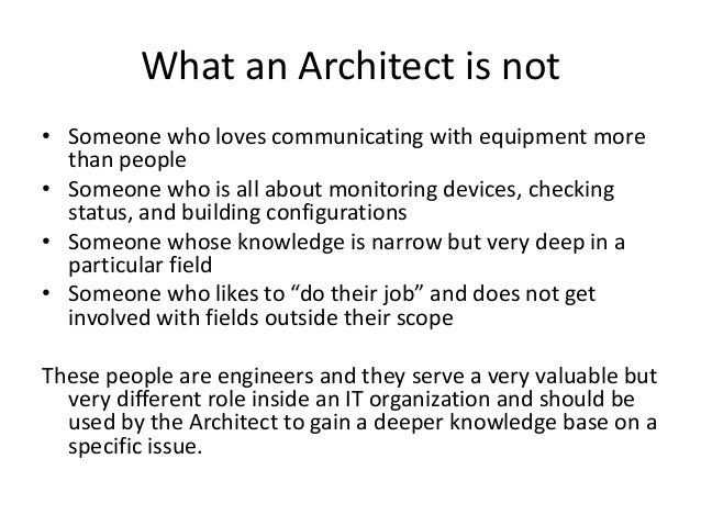 What is the role of a Network Architect