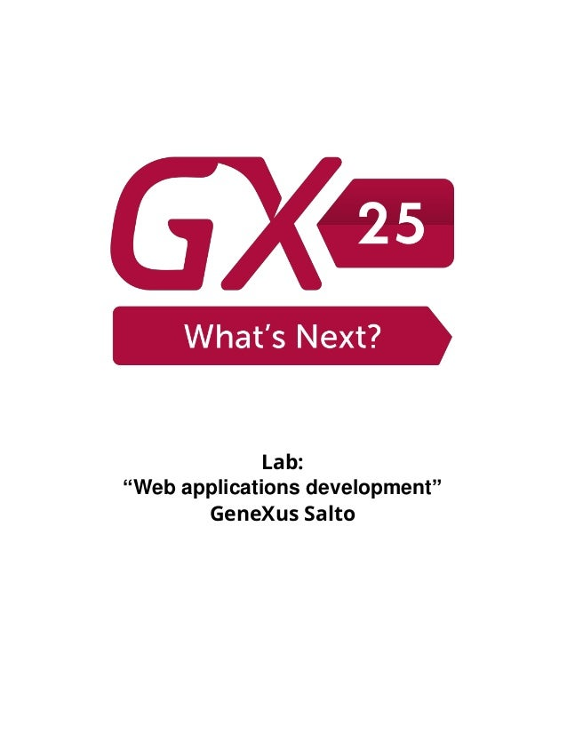 "Lab: ""Web applications development"" GeneXus Salto"