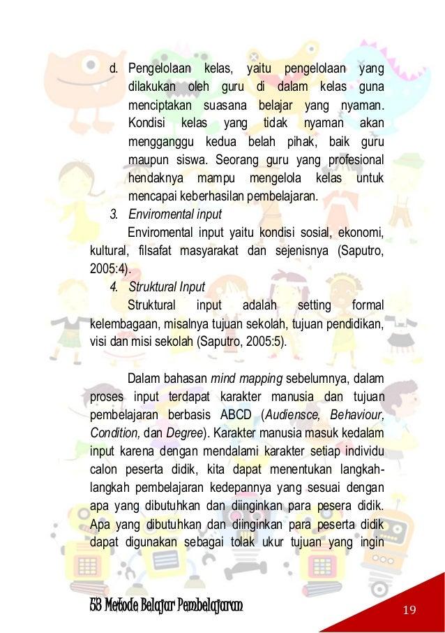 53 Metode Belajar Pembelajaran 20 dicapai dalam pembelajaran. Tujuan pembelajaran berbasis ABCD masing-masing dijelaskan s...