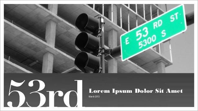 Lorem Ipsum Dolor Sit Amet March 2013