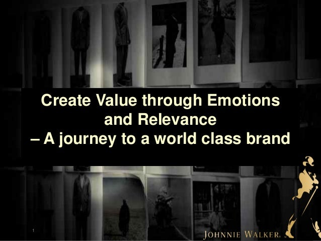 1 Create Value through Emotions and Relevance – A journey to a world class brand