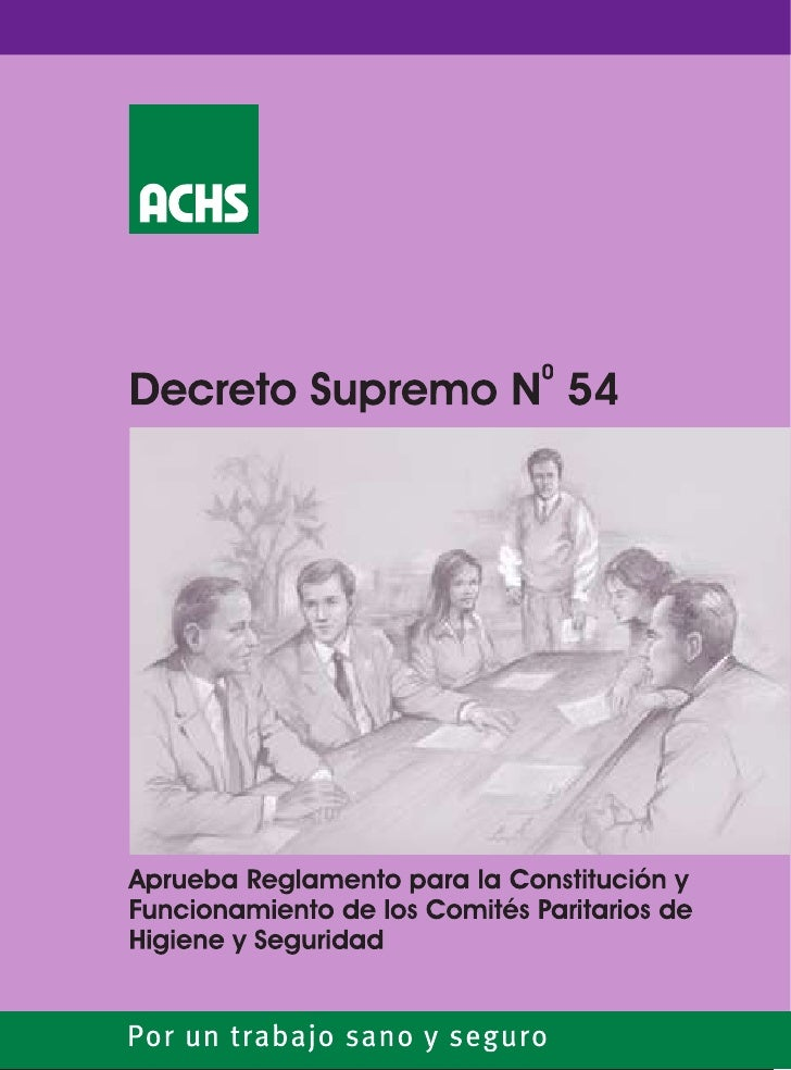 Ministerio del Trabajo y Previsión SocialSUBSECRETARIA DE PREVISION SOCIAL                  DECRETO SUPREMO Nº54          ...