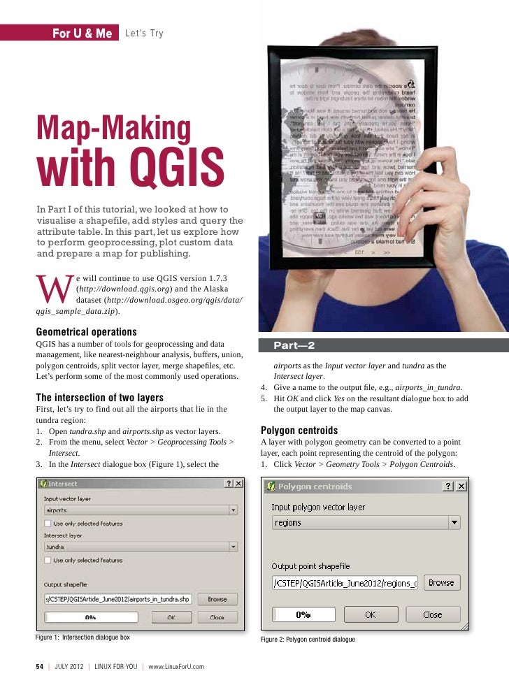 For U & Me                 Lets TryMap-Makingwith QGISIn Part I of this tutorial, we looked at how tovisualise a shapefile...
