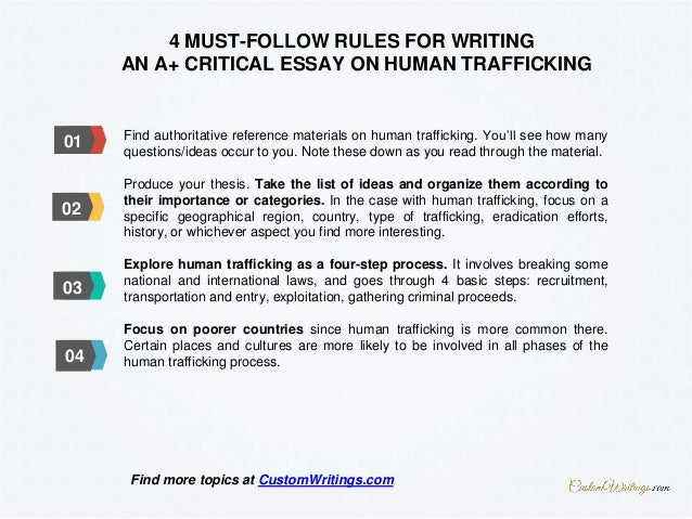 complete guide on writing a critical essay on human trafficking 3