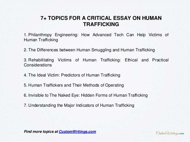 complete guide on writing a critical essay on human trafficking 4 1