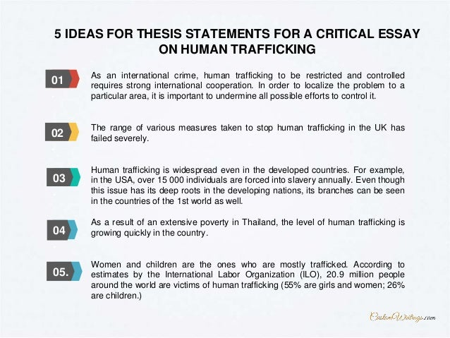 thesis statement examples on human trafficking