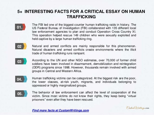 Thesis statements for human trafficking