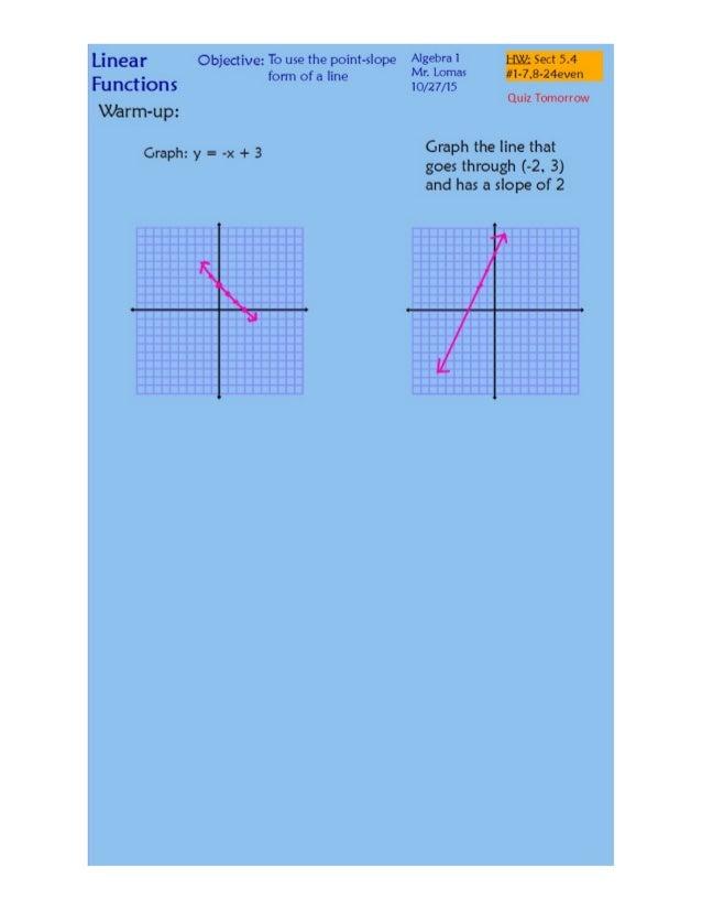 point slope form quiz pdf  10-10 Point-Slope Form.pdf