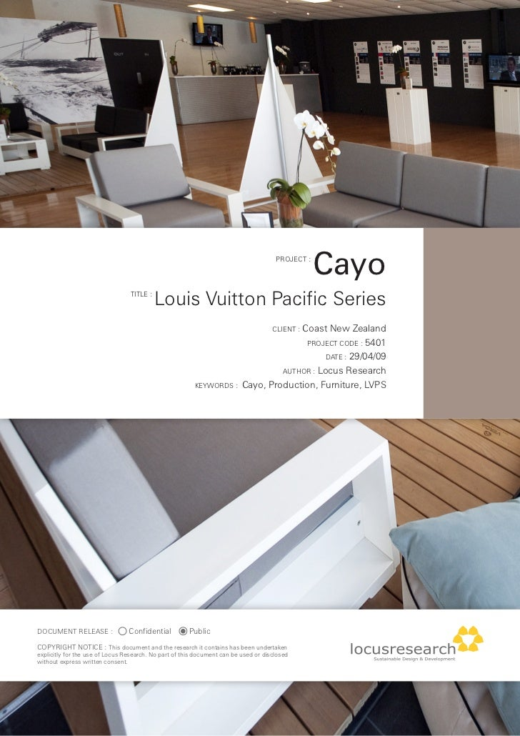 PROJECT :                                                                                                   Cayo          ...