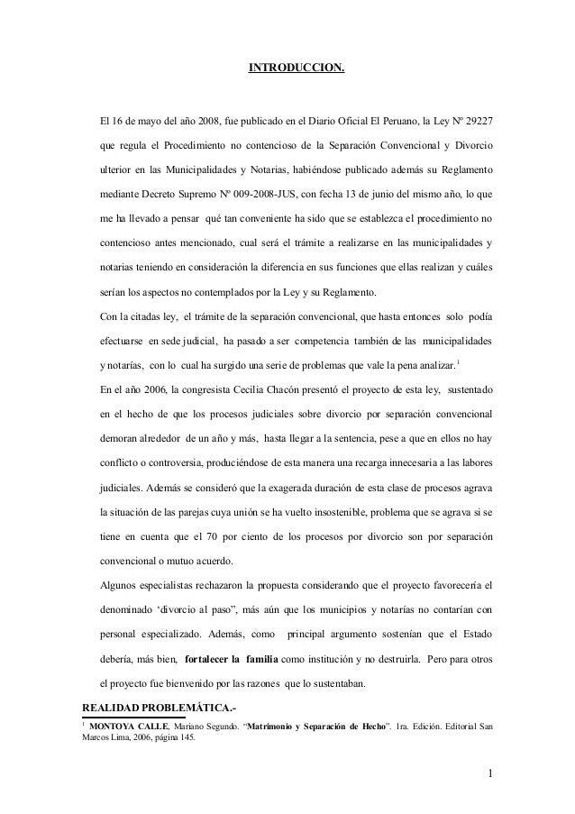 INTRODUCCION.  El 16 de mayo del año 2008, fue publicado en el Diario Oficial El Peruano, la Ley Nº 29227 que regula el Pr...