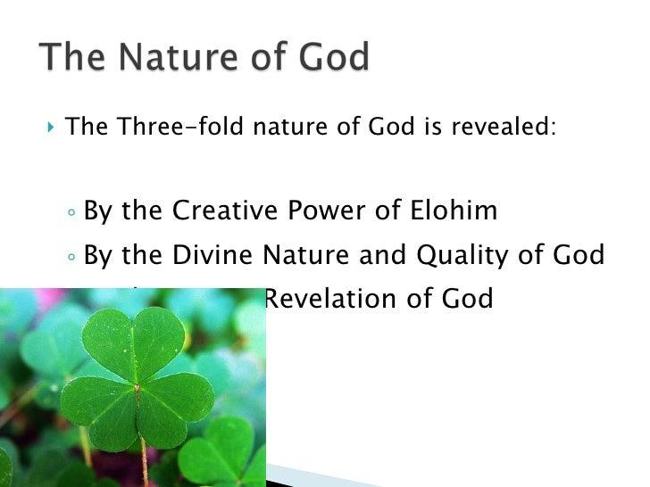 The Threefold nature of God - Trinity