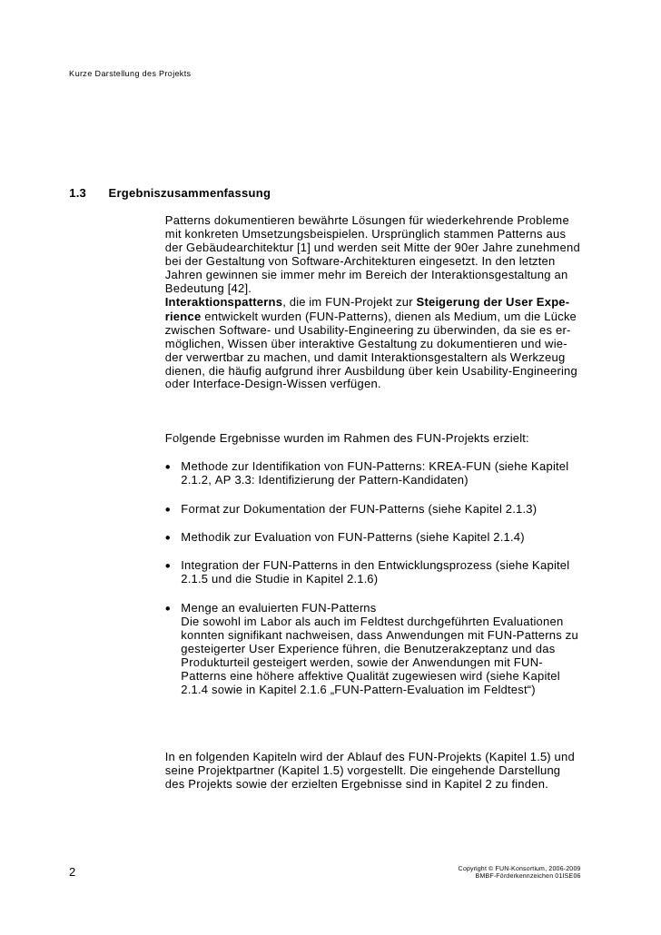 Schlussbericht BMBF-Projekt Fun-of-Use für Geschäftsanwendungen