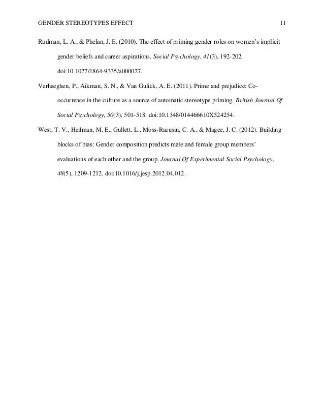 stereotypes research paper