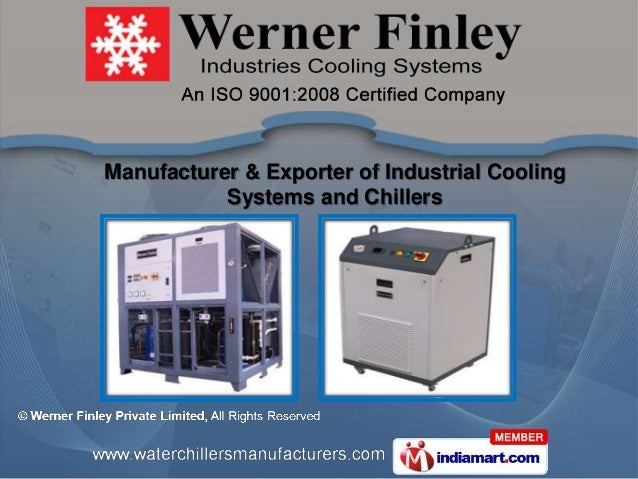 Manufacturer & Exporter of Industrial Cooling           Systems and Chillers