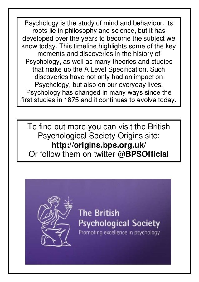 Psychology is the study of mind and behaviour. Its roots lie in philosophy and science, but it has developed over the year...