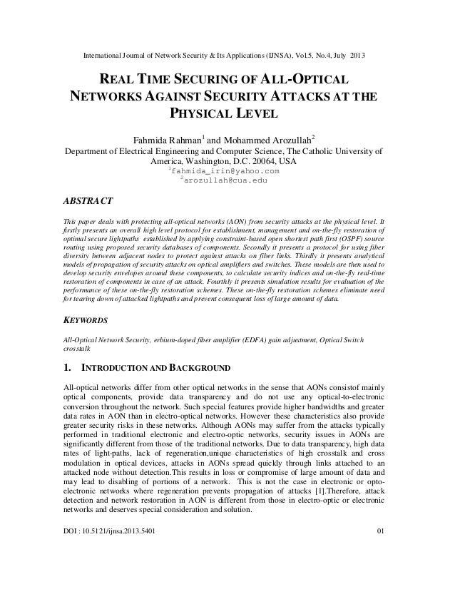 International Journal of Network Security & Its Applications (IJNSA), Vol.5, No.4, July 2013 DOI : 10.5121/ijnsa.2013.5401...
