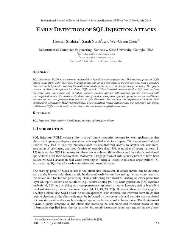 International Journal of Network Security & Its Applications (IJNSA), Vol.5, No.4, July 2013 DOI : 10.5121/ijnsa.2013.5404...