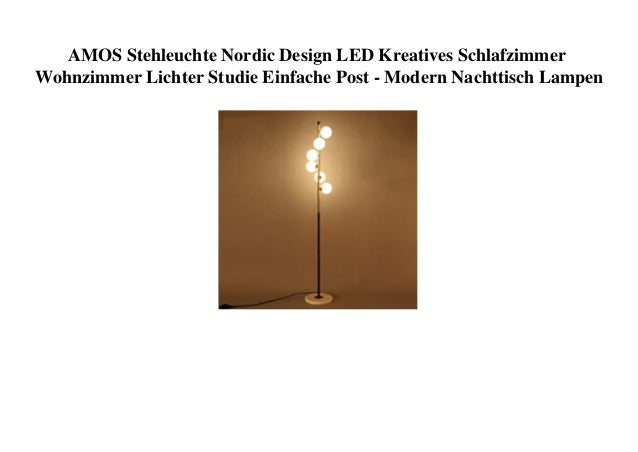 AMOS Stehleuchte Nordic Design LED Kreatives Schlafzimmer Wohnzimmer Lichter Studie Einfache Post - Modern Nachttisch Lamp...