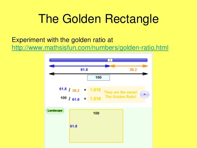 Math is Beautiful The Golden Ratio can be applied to the human face to determine beauty.
