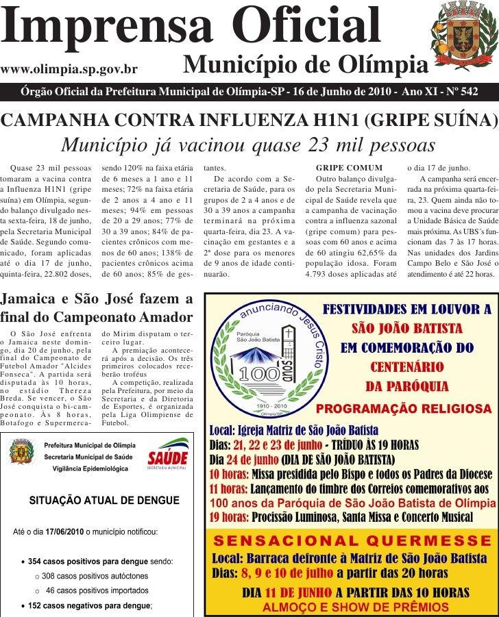 Imprensa Oficial www.olimpia.sp.gov.br                                  Município de Olímpia       Órgão Oficial da Prefei...