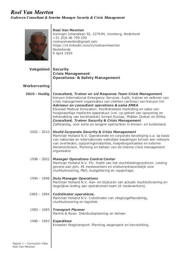 resume roel van meerten nl