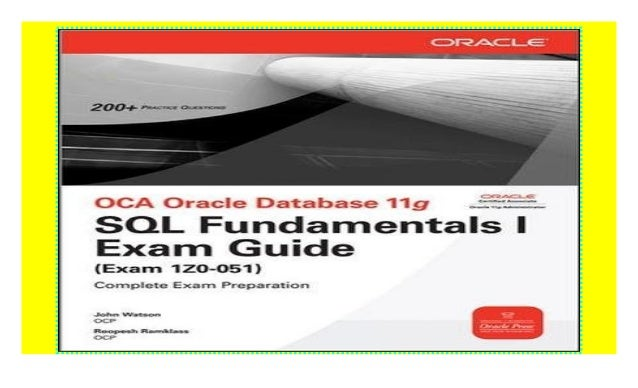 Oracle Database 11g Sql Fundamentals I Book