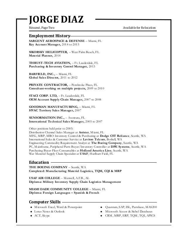 2. JORGE DIAZ Résumé ...  Purchasing Resume
