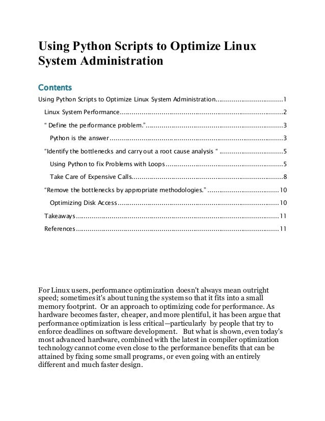 Using Python Scripts to Optimize Linux System Administration