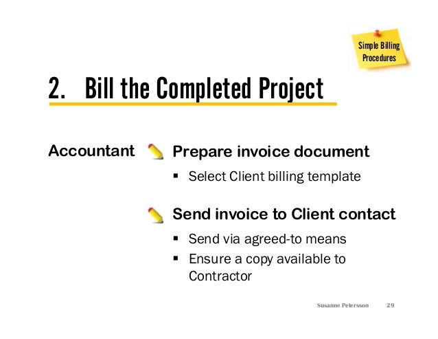3 Simple Billing Procedures for Independent Project Manager - Susanne…