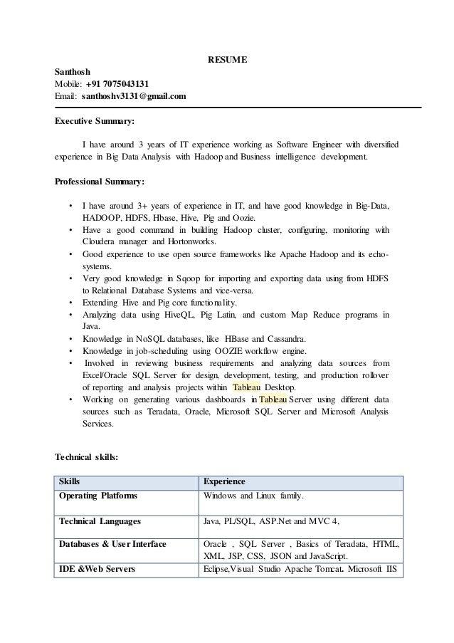 hadoop resume hola klonec co