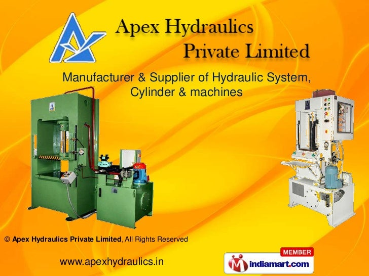 Manufacturer & Supplier of Hydraulic System,                           Cylinder & machines© Apex Hydraulics Private Limite...