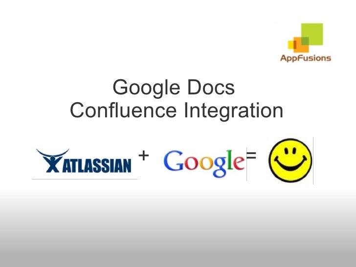 Google Docs  Confluence Integration    +       =