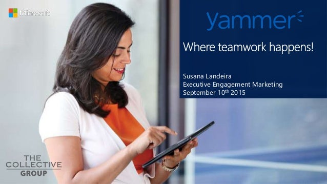 Susana Landeira Executive Engagement Marketing September 10th 2015