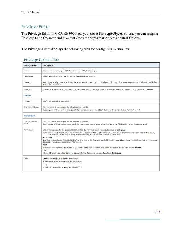 c cure access control manual