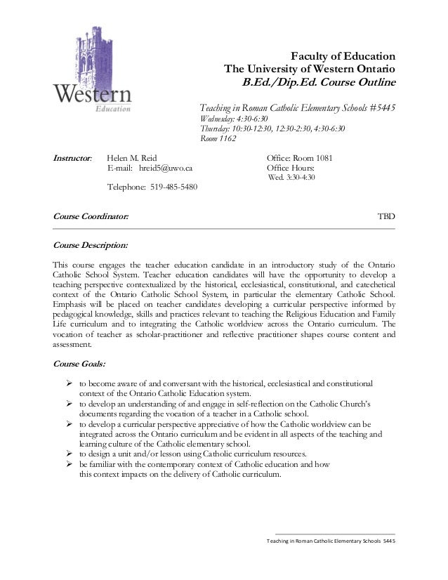 Faculty of Education                                                   The University of Western Ontario                  ...