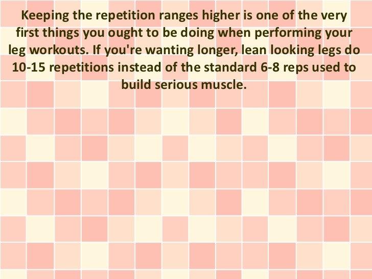 Keep The Rep Range Higher 7