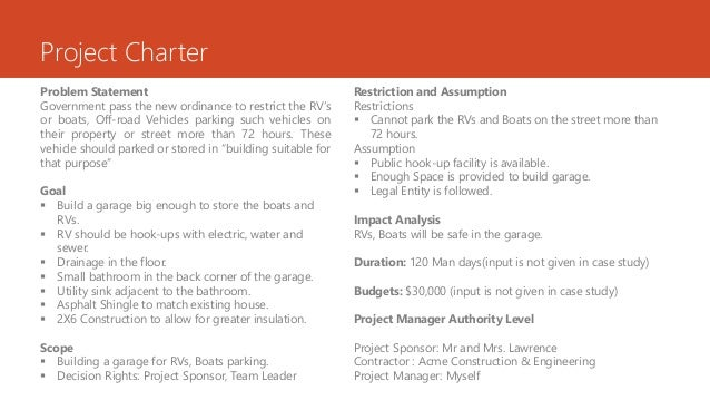 example project charter for the construction of a dwelling house: Sample project charter for the construction of a dwelling house