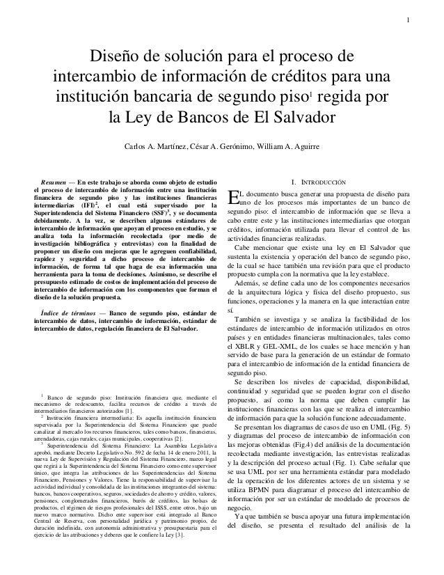 1  Resumen — En este trabajo se aborda como objeto de estudio el proceso de intercambio de información entre una instituc...