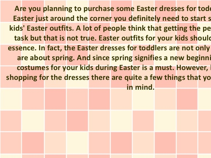Are you planning to purchase some Easter dresses for todd  Easter just around the corner you definitely need to start s ki...