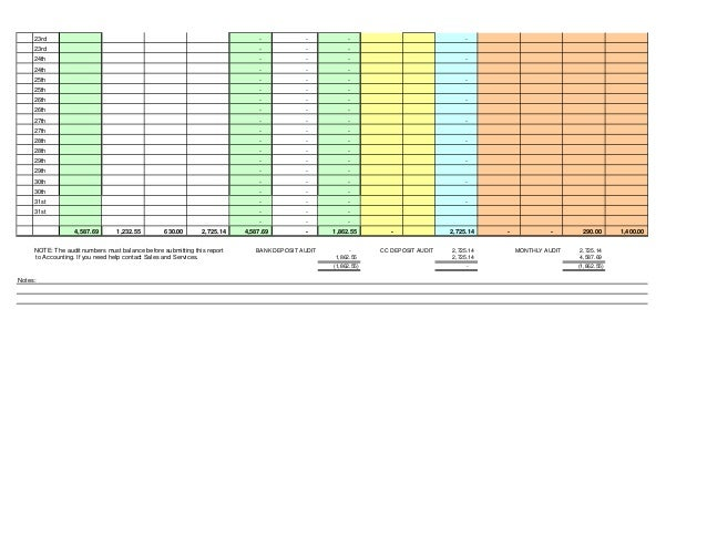 excel daily sales spreadsheet